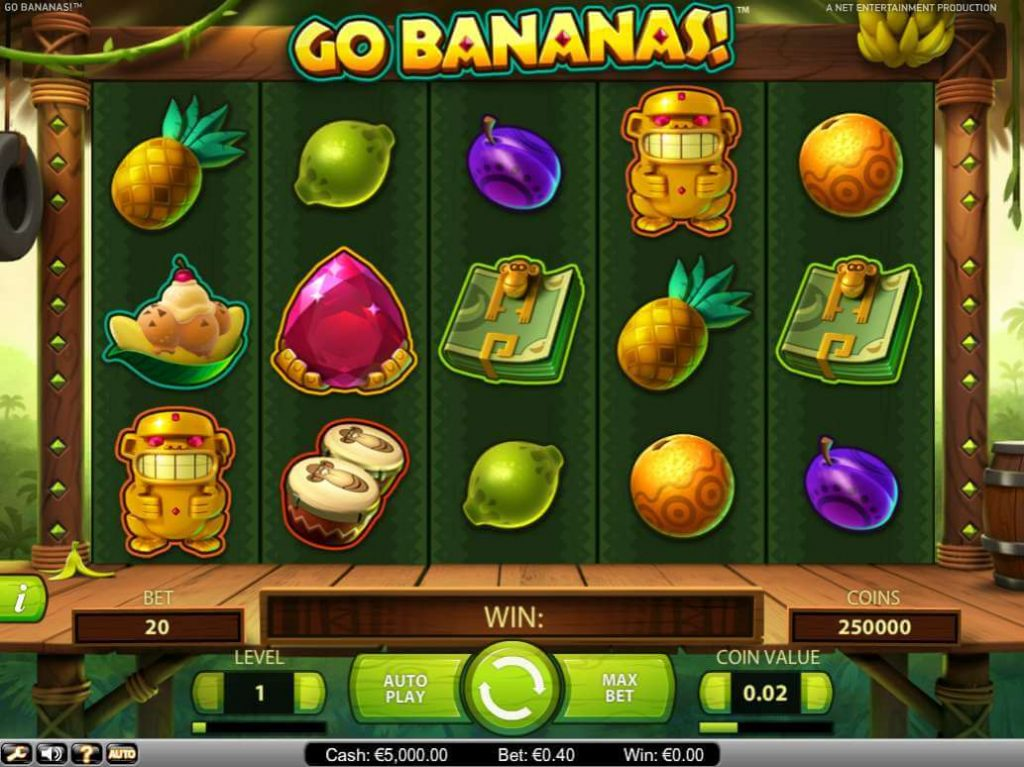 Netent game review: Go Bananas